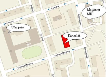 Mapa Kancelář